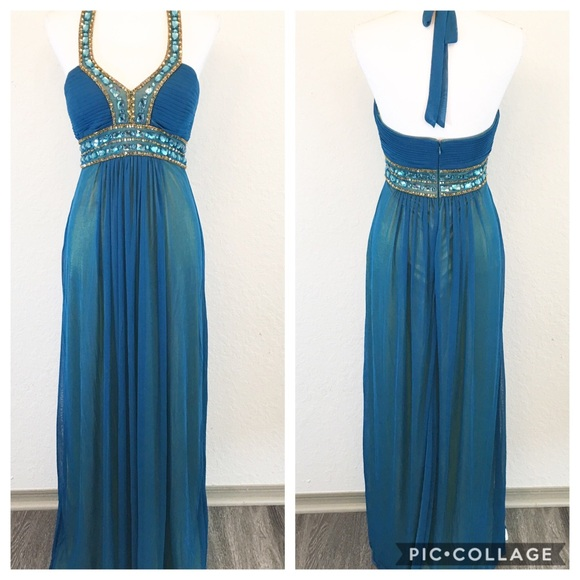 Cache Dresses & Skirts - Cache   Evening Floor Length Beaded Sequin Gown